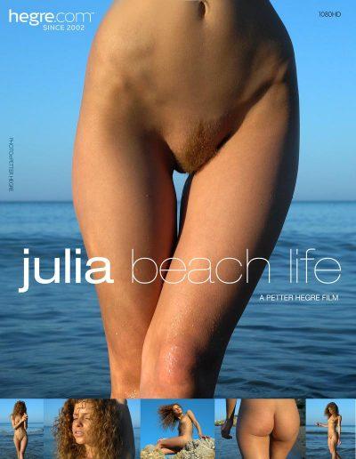 Beach Life, nouveau film avec Julia, mannequin du site Hegre.com