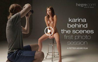 Backstage photo nue session réalisée par Petter Hegre