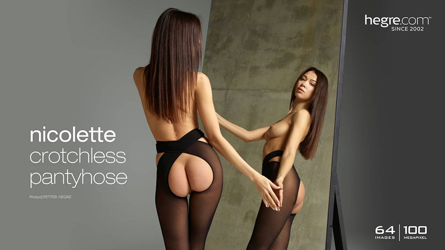 nicolette-crotchless-pantyhose